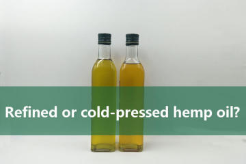 Refined or cold-pressed hemp oil